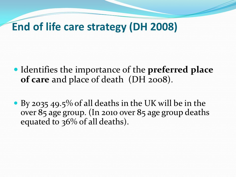 End of life care strategy (DH 2008)