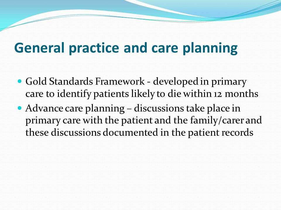 General practice and care planning
