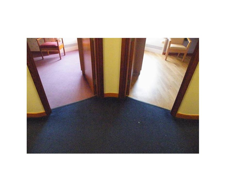 Flooring Uneven floor surfaces can contribute to slips trips and falls, people see this type of flooring as steps.