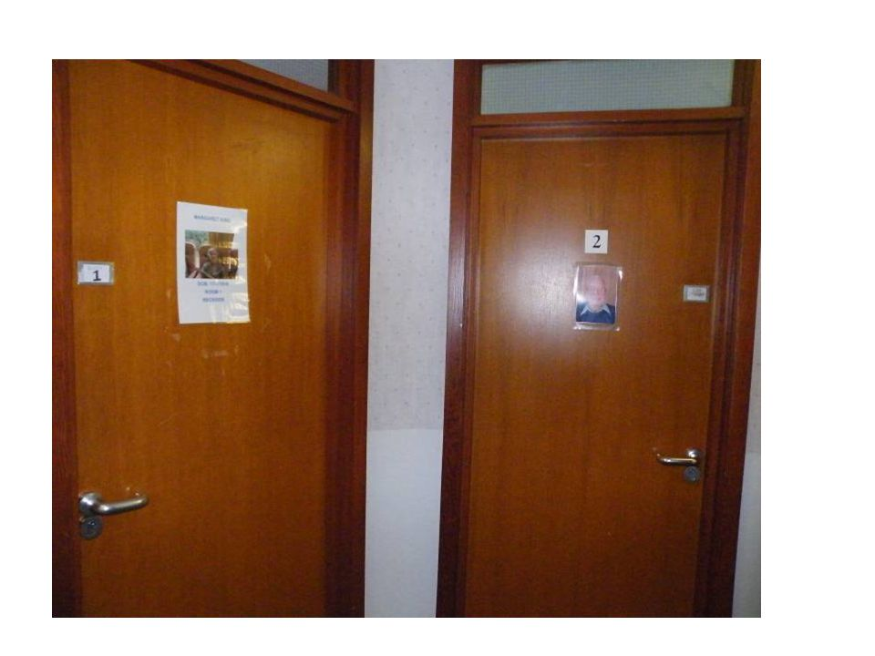 This was an example of trying to personalise doors with photos of people who may not recognise themselves.