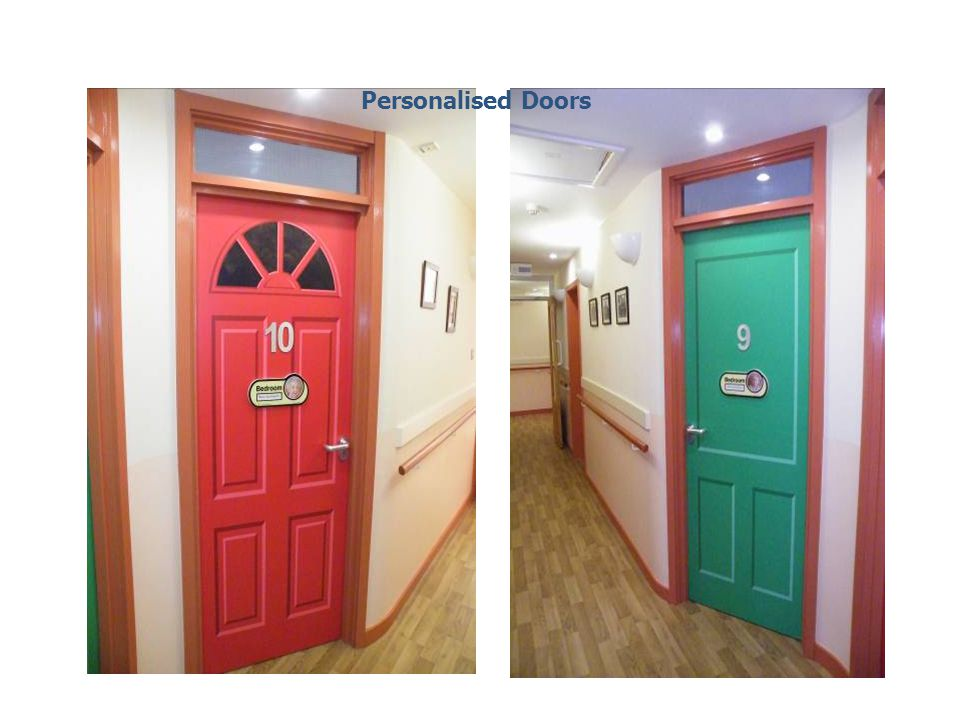 Personalised Doors This picture is the same doors as the previous slide.Talk about bedroom doors being personalised and identifiable.