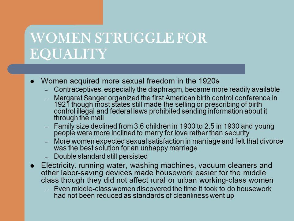 WOMEN STRUGGLE FOR EQUALITY