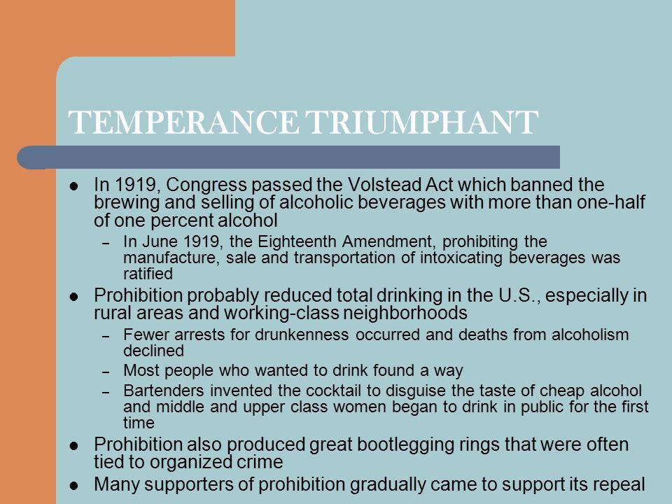 TEMPERANCE TRIUMPHANT