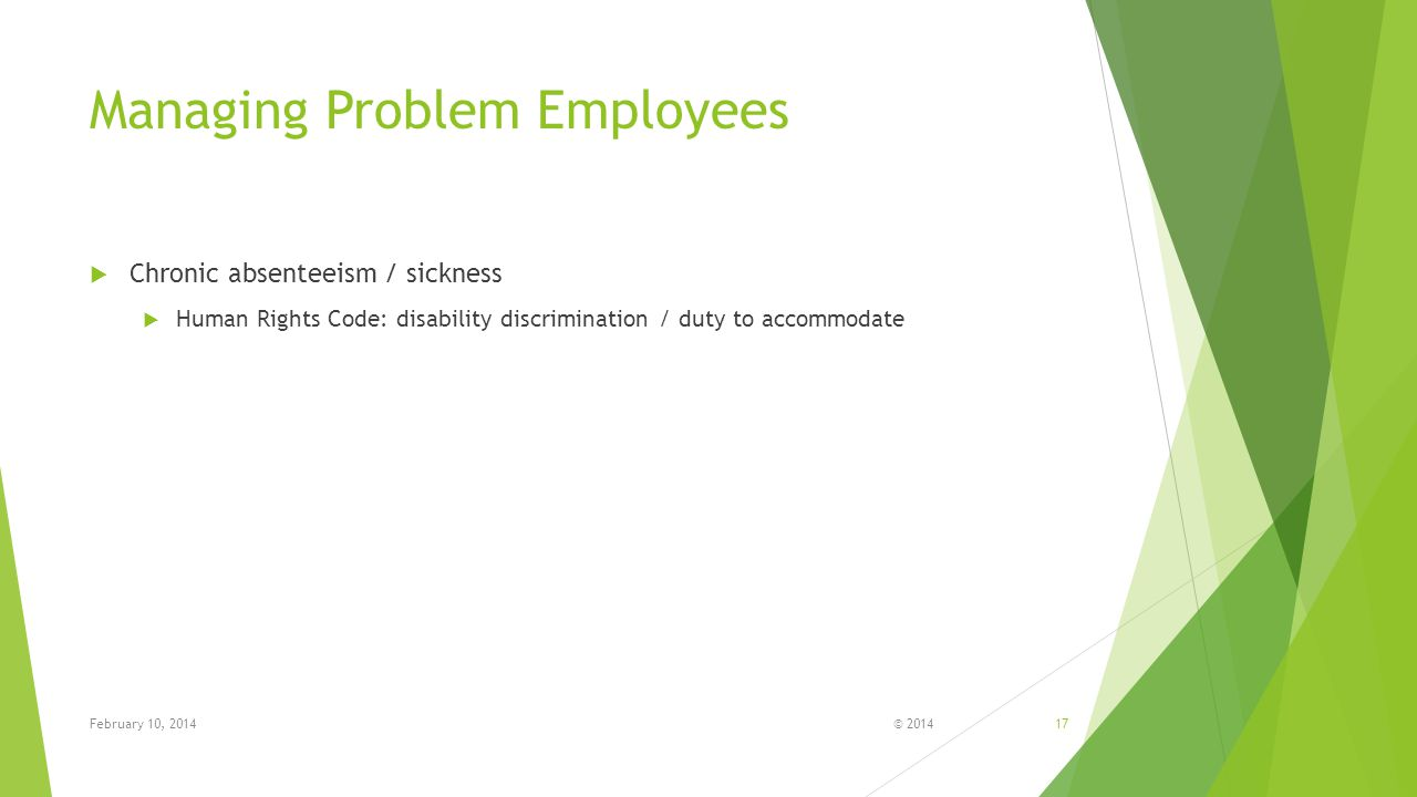 Managing Problem Employees