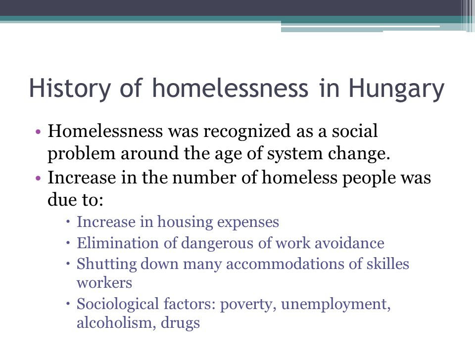 History of homelessness in Hungary