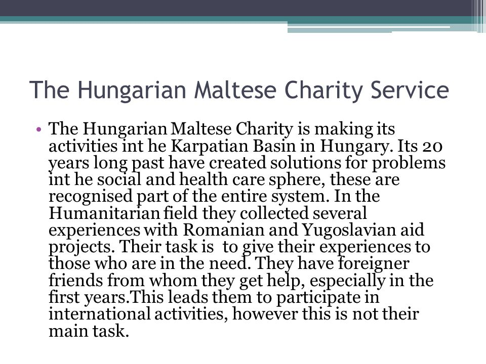 The Hungarian Maltese Charity Service