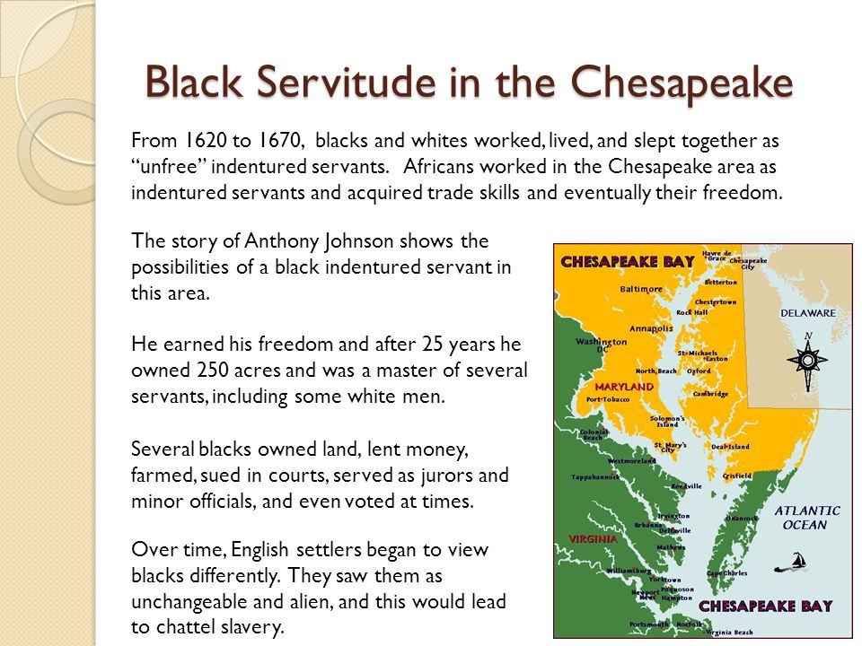 Black Servitude in the Chesapeake