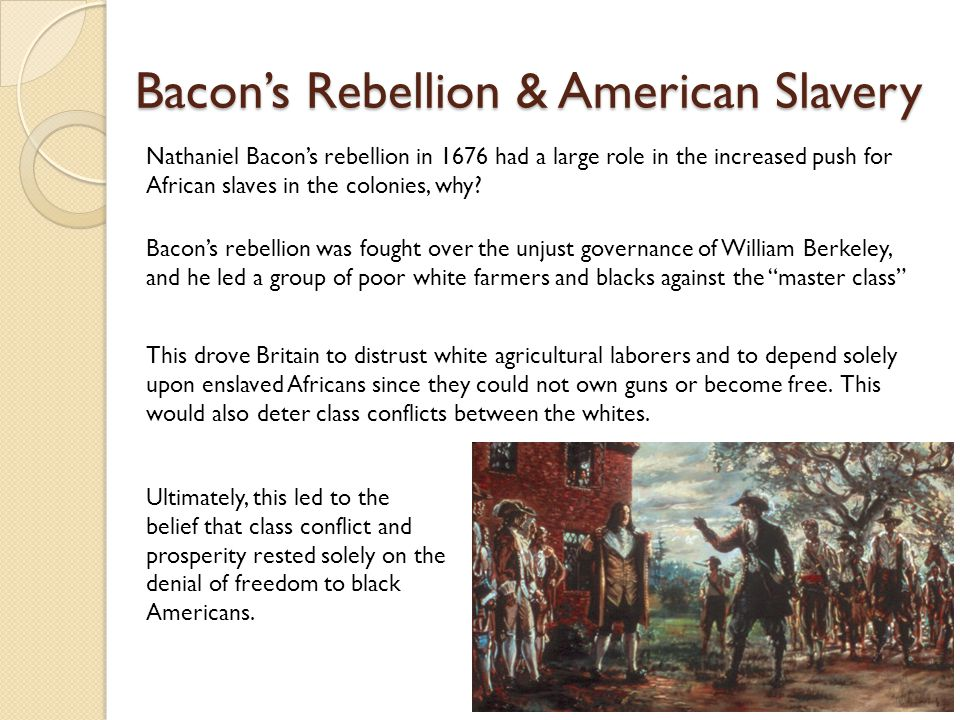 Bacon's Rebellion & American Slavery
