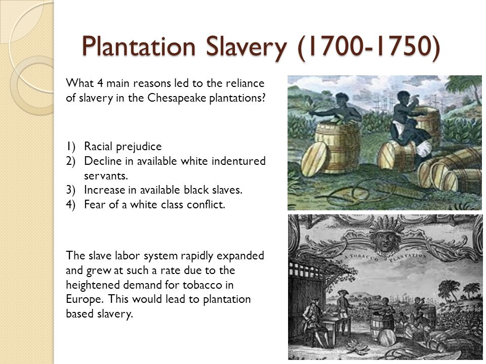 reasons slavery The reason for this conflict over merely the spread of slavery, rather than its entire  existence, was largely due to concerns over the balance of.