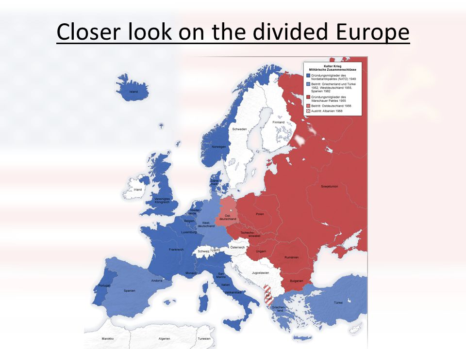 Closer look on the divided Europe