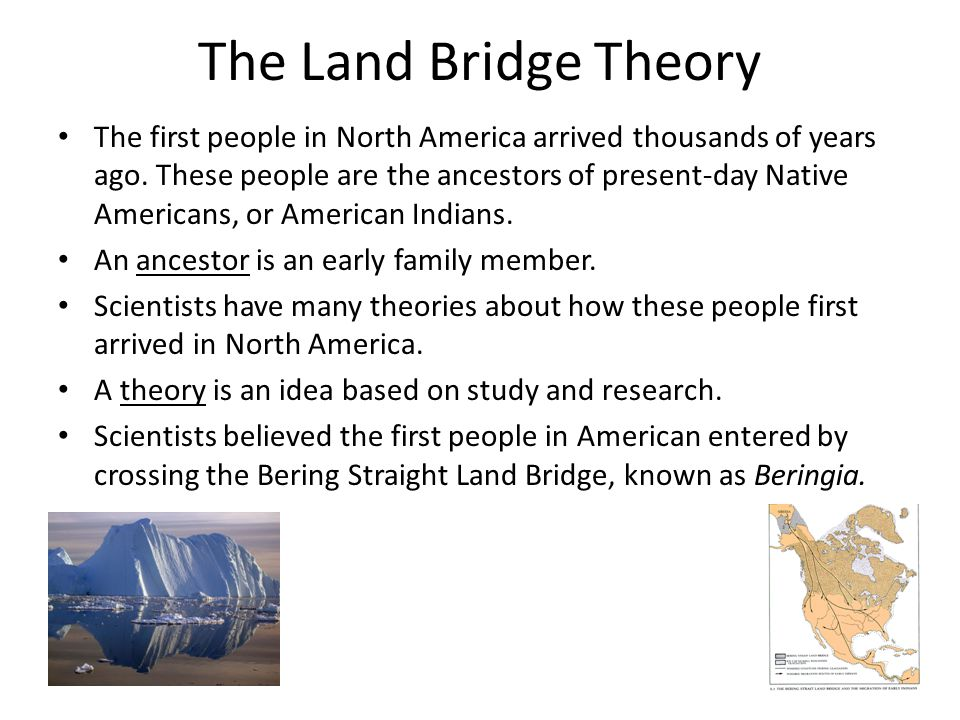 The Land Bridge Theory