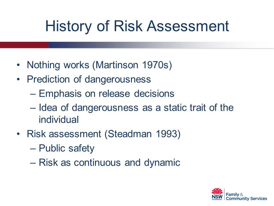 History of Risk Assessment