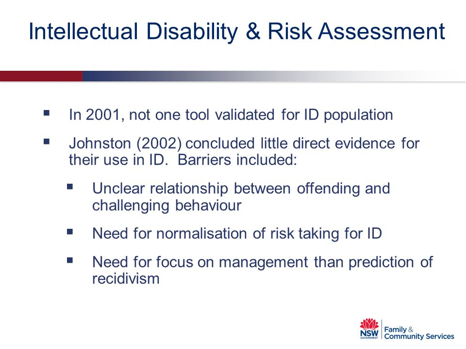Intellectual Disability & Risk Assessment