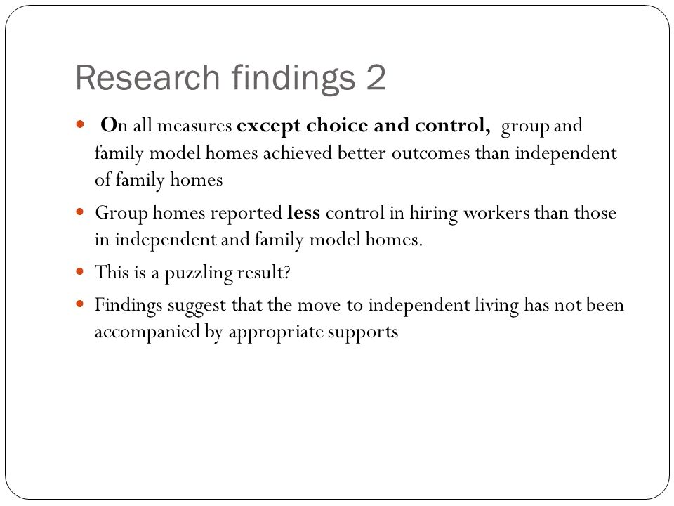 Research findings 2