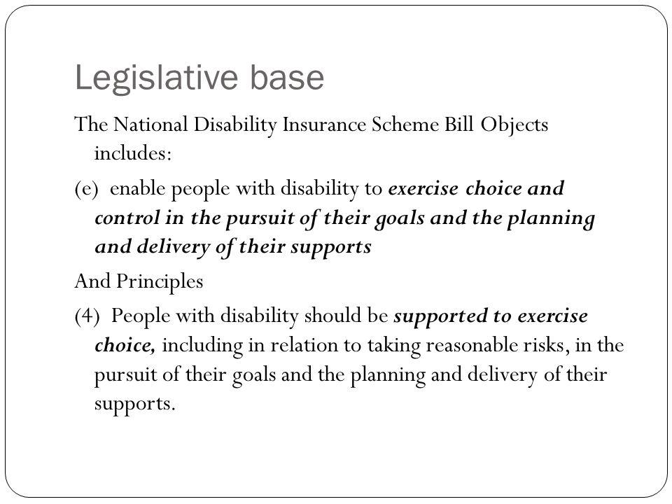 Legislative base