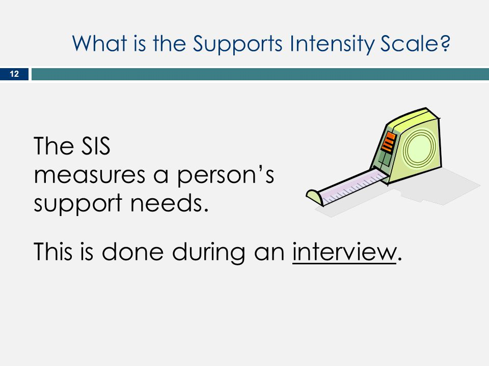 What is the Supports Intensity Scale