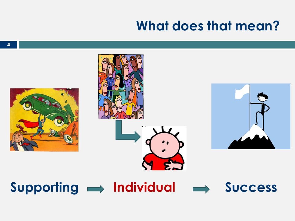 What does that mean Individual Success Supporting