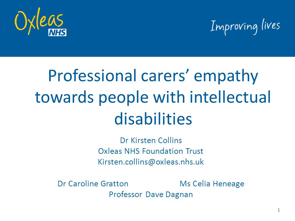 Professional carers' empathy towards people with intellectual disabilities