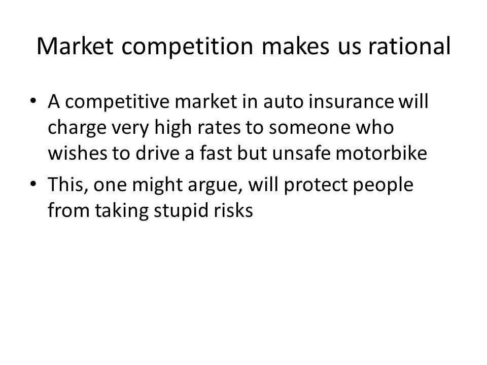 Market competition makes us rational