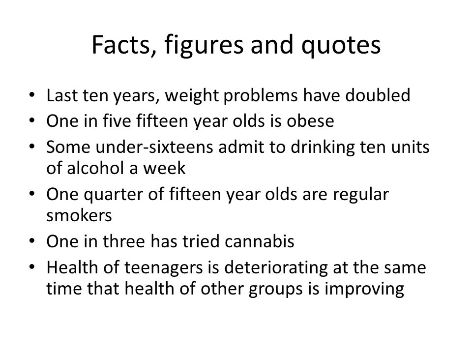 Facts, figures and quotes