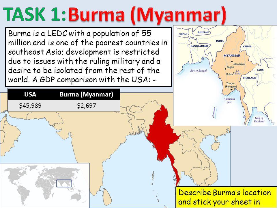 TASK 1: Burma (Myanmar)