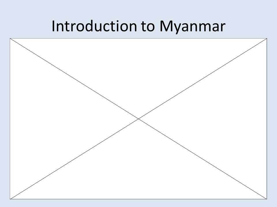 Introduction to Myanmar