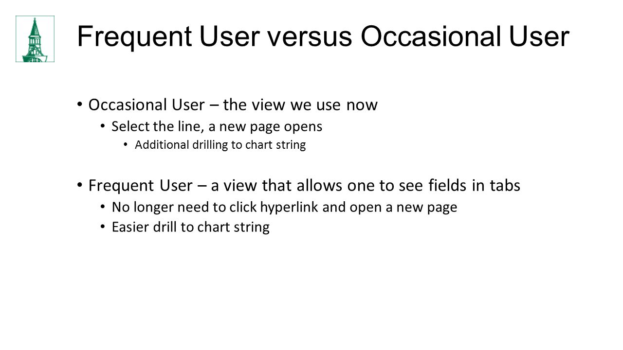 Frequent User versus Occasional User