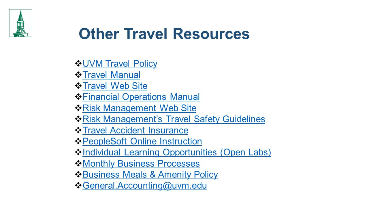 Other Travel Resources