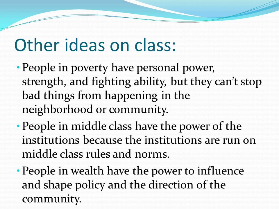 Other ideas on class: