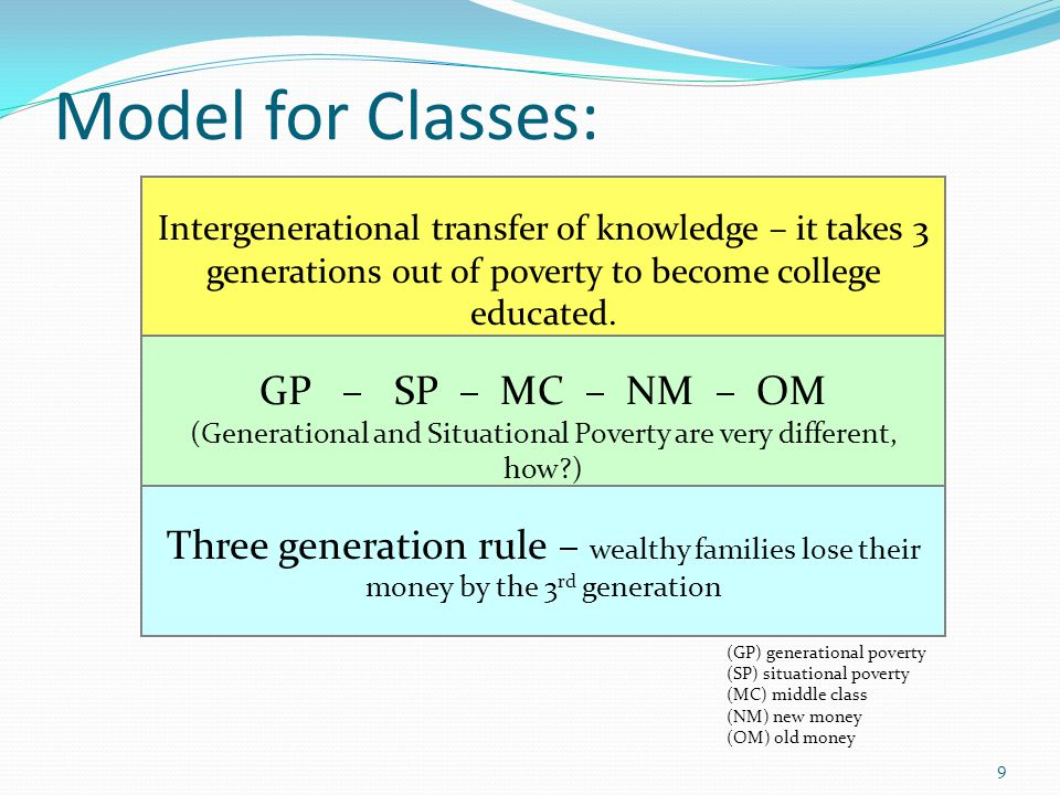 (Generational and Situational Poverty are very different, how )