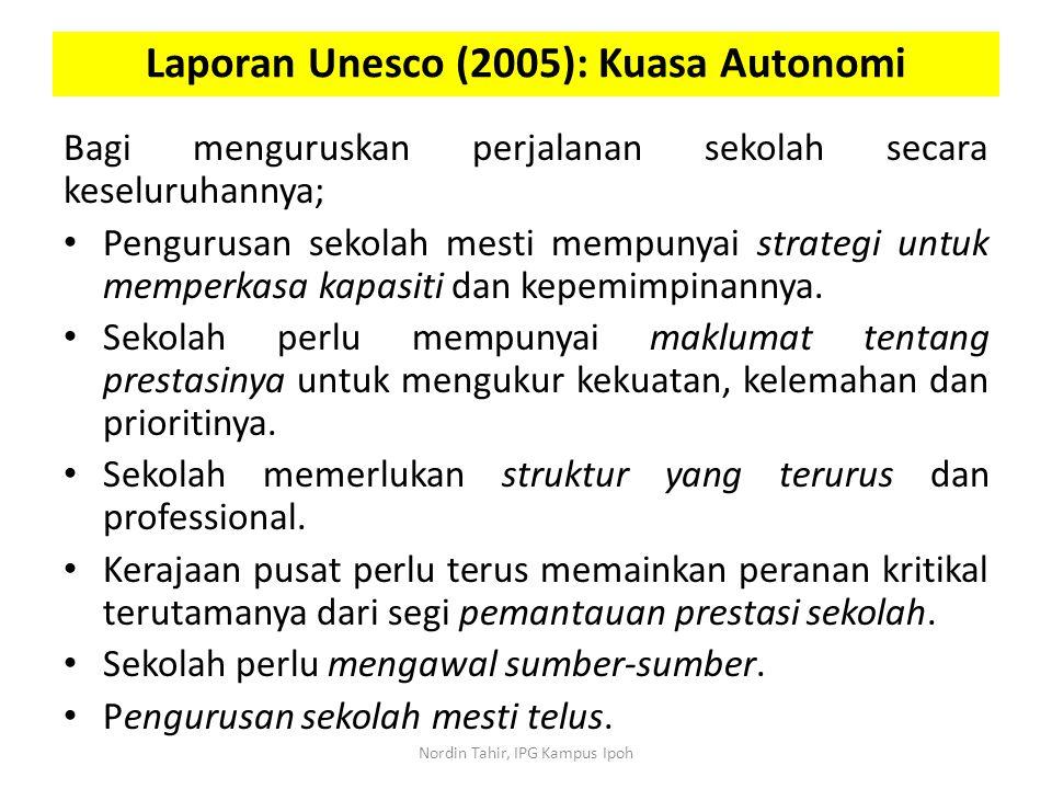 Laporan Unesco (2005): Kuasa Autonomi