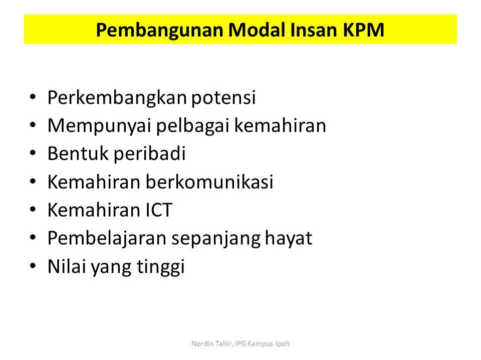 Pembangunan Modal Insan KPM