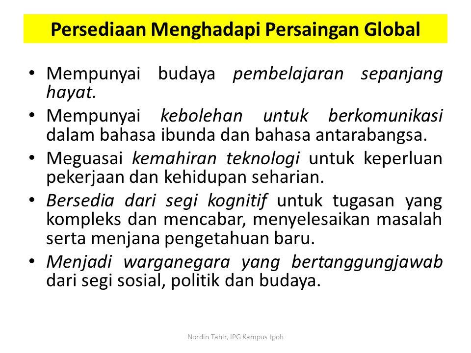 Persediaan Menghadapi Persaingan Global
