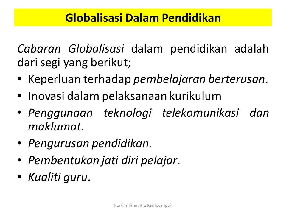 Globalisasi Dalam Pendidikan