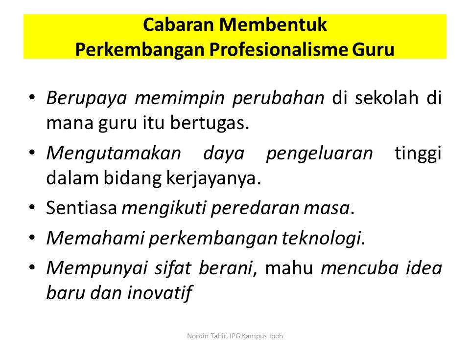 Perkembangan Profesionalisme Guru
