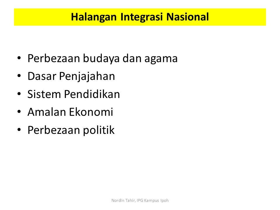 Halangan Integrasi Nasional