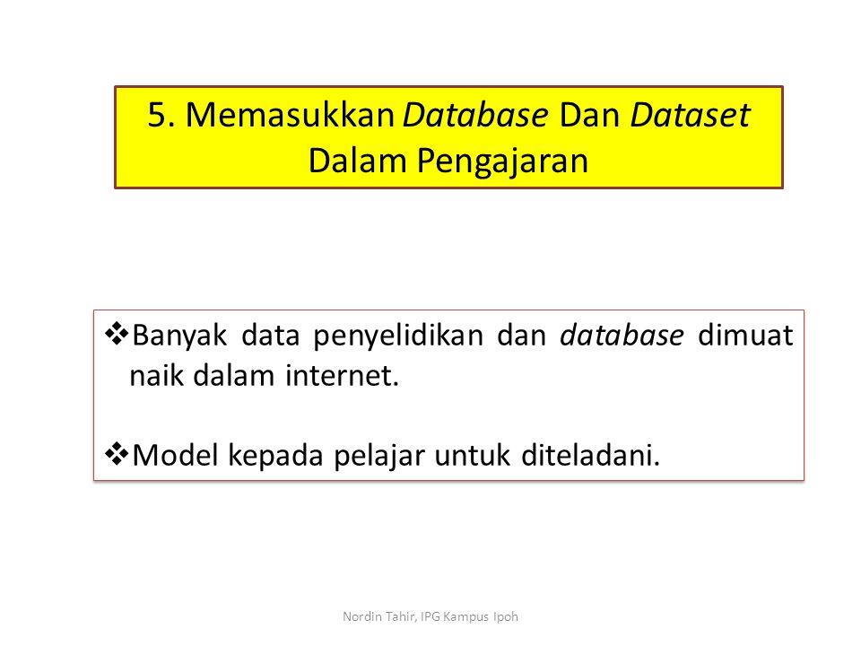 5. Memasukkan Database Dan Dataset Dalam Pengajaran