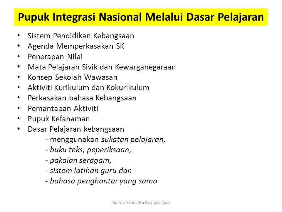 Pupuk Integrasi Nasional Melalui Dasar Pelajaran