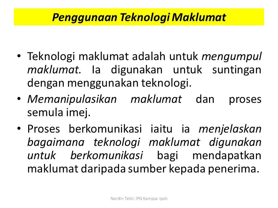 Penggunaan Teknologi Maklumat