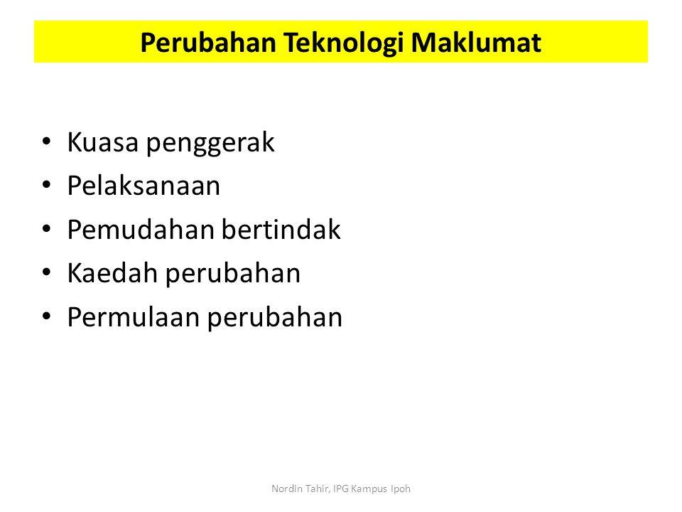 Perubahan Teknologi Maklumat