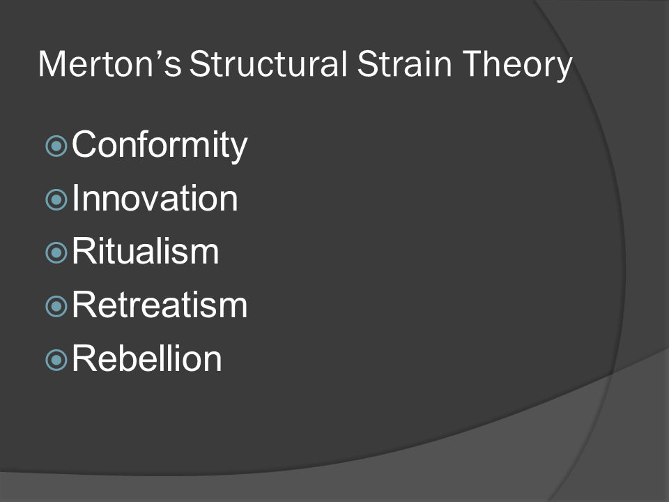 Merton's Structural Strain Theory