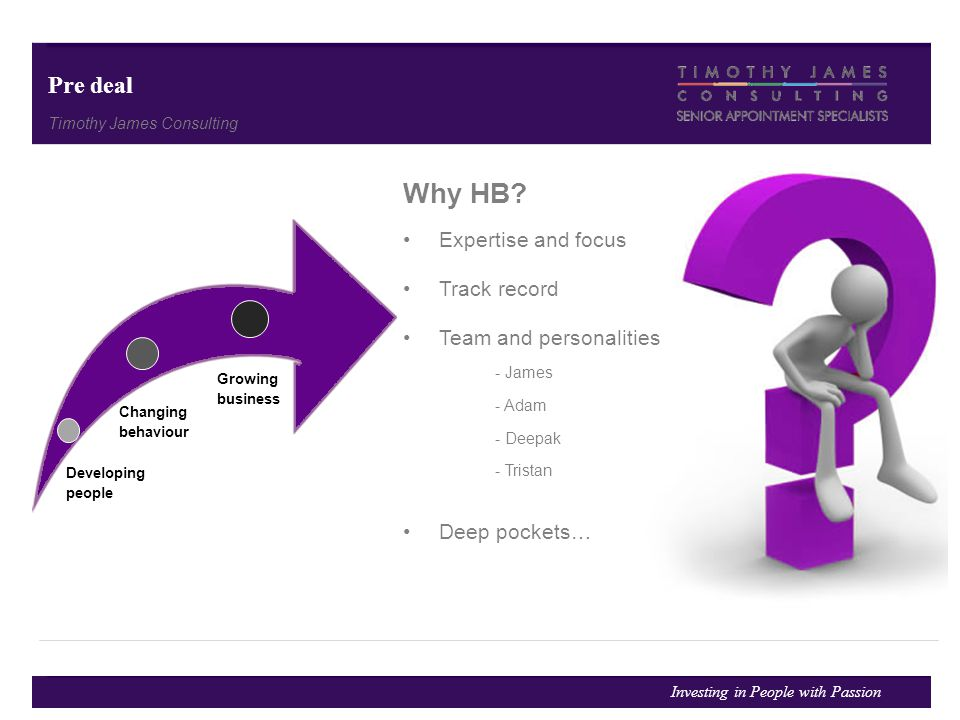 Why HB Pre deal Expertise and focus Track record