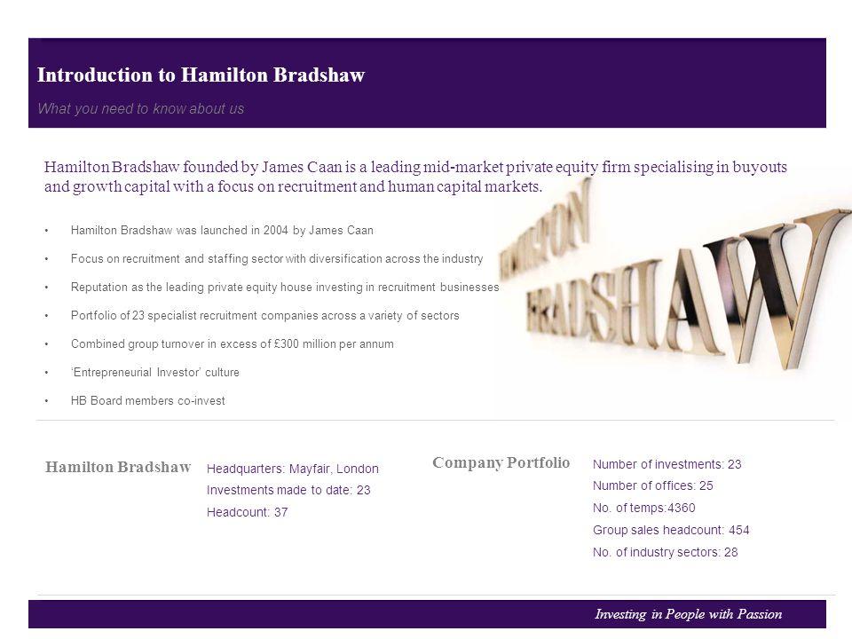 Introduction to Hamilton Bradshaw