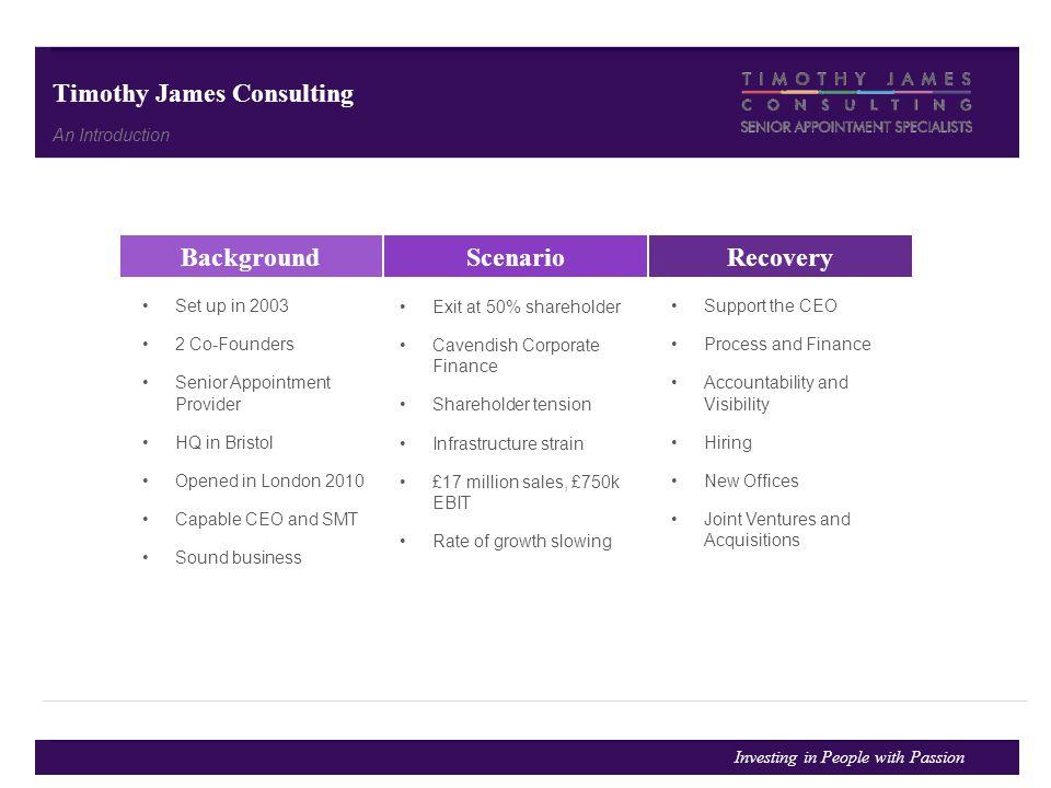 Background Scenario Recovery