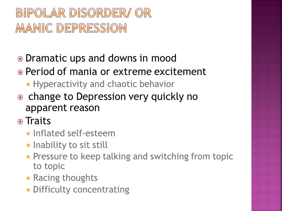 Bipolar disorder/ or manic depression