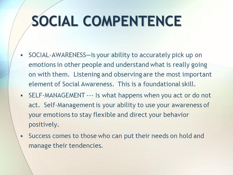 SOCIAL COMPENTENCE