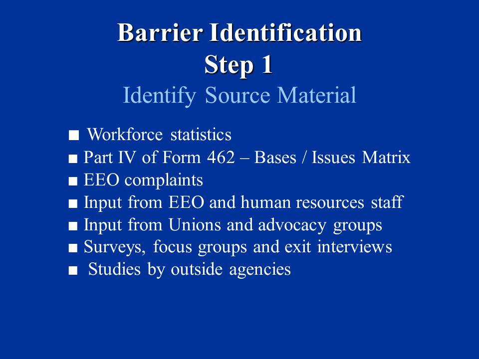 Barrier Identification Step 1