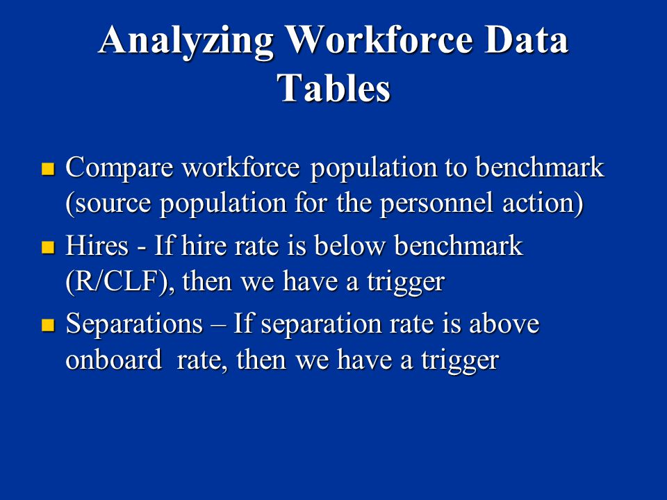 Analyzing Workforce Data Tables