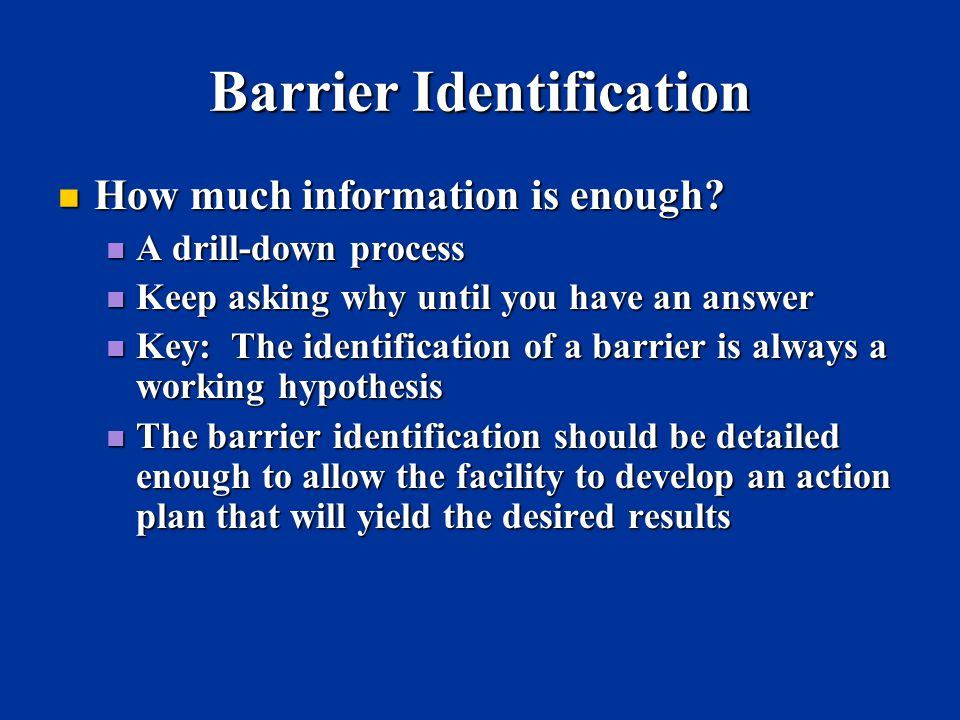 Barrier Identification
