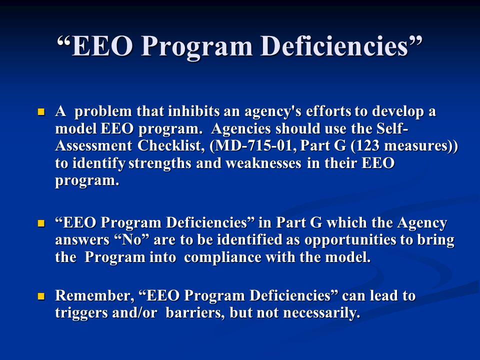 EEO Program Deficiencies
